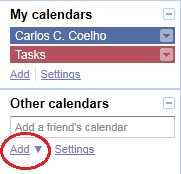 Other Calendars - Add