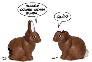 O que um coelho disse para o outro